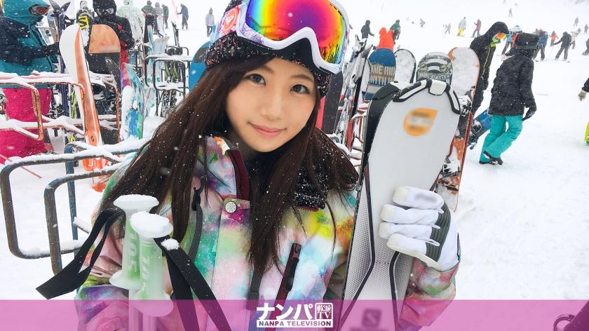 スキーナンパ 02 in 新潟 れな 22歳 外国語スクールの事務員