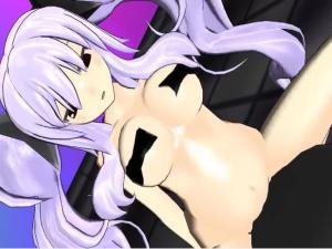 【閃乱カグラMMD】巨乳な柳生ちゃんが下半身裸でニップレスおっぱいな乗馬マシン【3Dエロアニメ】