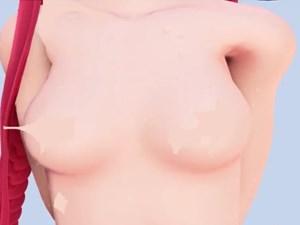 【3Dエロアニメ】全裸な江風ちゃんが肌色の水玉コラでもじもじするだけ【艦これMMD】