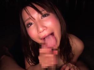 【倉多まお】巨乳美女が上目遣い濃厚フェラでザーメンを吸い出しごっくん&お掃除フェラ
