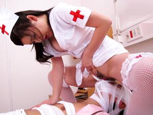【仲里紗羽】痴女ナースが患者の顔面にマンコを擦りつけ勃起させたチンポを強制挿入!!