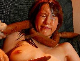 【立花瑠莉】 色白巨乳美女が触手モンスターに犯され快楽堕ち・・・ 【tube8】
