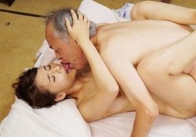 【大場ゆい】 お爺ちゃんと美女が下町デート! 最後はもちろんセックスまでしちゃう!! 【tube8】