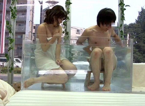 マジックミラー号 混浴して二人でアソコの擦り合わせ、友達同士の大学生男女2人