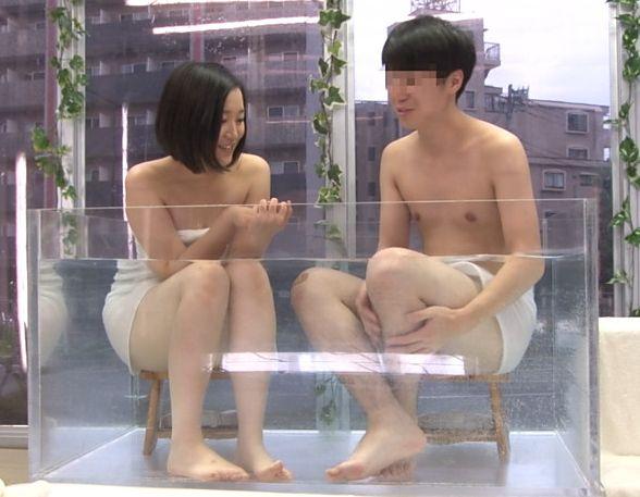 マジックミラー号 友達同士の大学生男女2人に初めての混浴温泉「二人でアソコの擦り合わせ(つまり素股)」までの過激ミッション