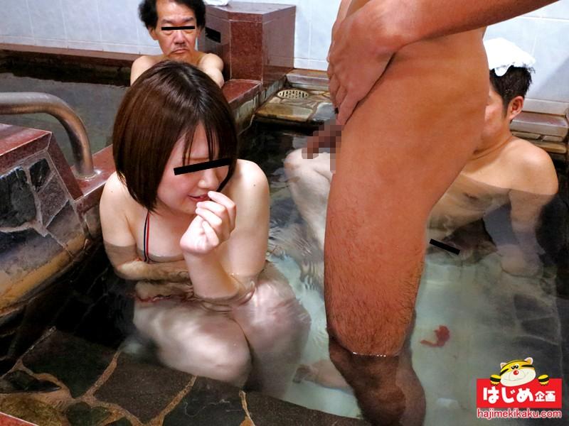 (シロウトドッキリ☆)溶けるミズ着で男湯入って下さい☆☆
