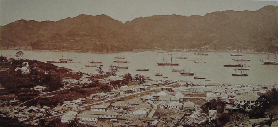 外国人居留地1872年上野彦馬長大図書館