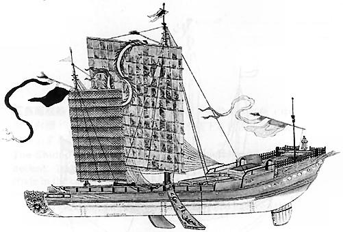 18世紀のジャンク船