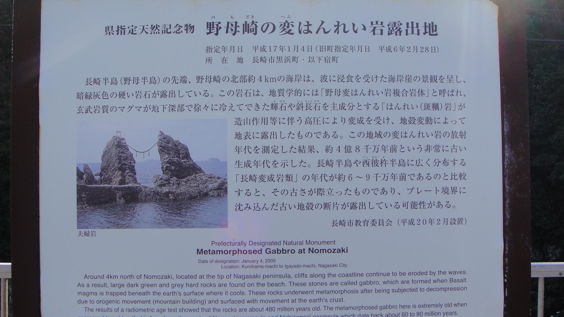 夫婦岩説明