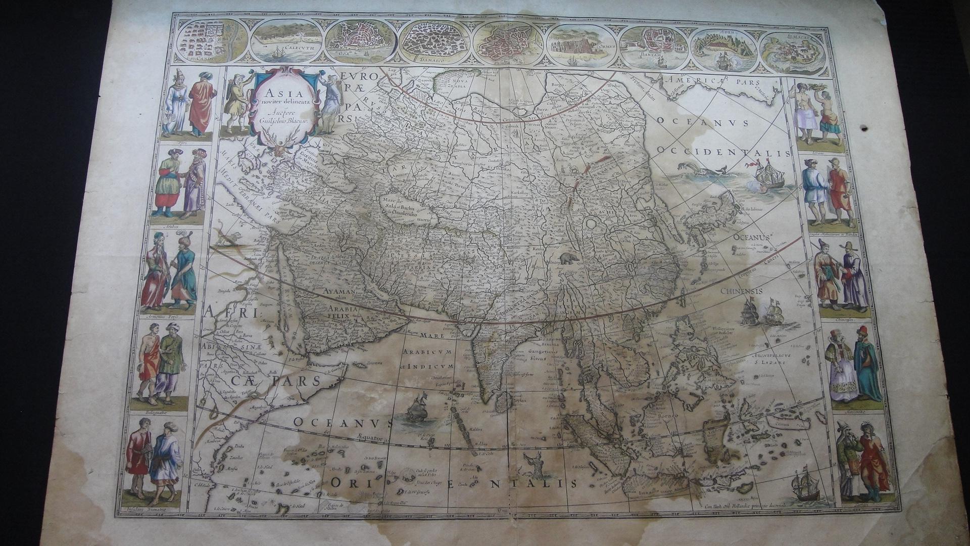 アジア図 1645年 W. J. Blaew 作