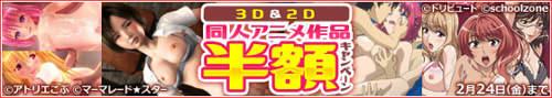 DLげっちゅ 同人アニメ(3D、2D)作品半額キャンペーン 開催中