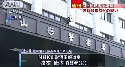 NHK職員犯罪ニュース