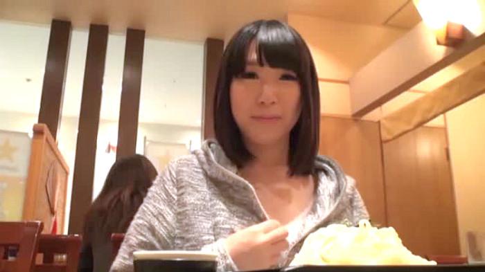(ハメドリ)ロケット乳の青葉ゆな出演のハメドリムービー。秋田駅前でロケット乳小娘に美味しい店を案内してもらいつつHOTELでハメドリ/青葉ゆな