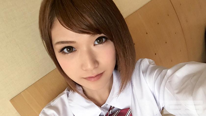 制服を着た美少女と待ち合わせてホテルでハメ撮り中出しSEX!