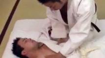 【ゲイ動画】鍛え上げたゲイ技でノンケの対戦相手にエロ過ぎる寝技を仕掛けるゲイ一本勝負w