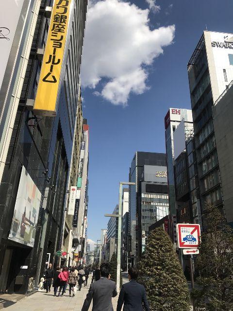 3月16日の銀座・新橋お天気情報