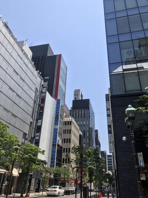 5月23日の銀座・新橋お天気情報