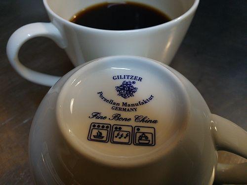 草津温泉カフェ花栞コーヒーカップ・Gilitzer(ギリッツァー)