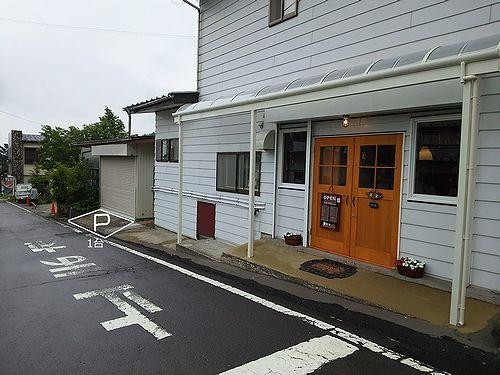 草津温泉カフェ花栞、駐車場1