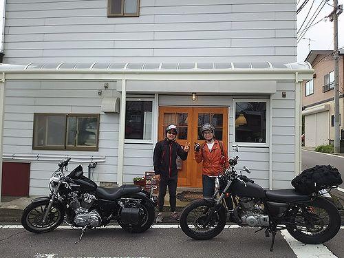 20170812草津温泉民泊花栞、宿泊のお客様とかっこいいバイク