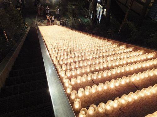 草津温泉湯畑キャンドル「夢の灯り」2