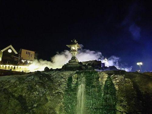 草津温泉湯畑ライトアップ6