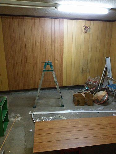 20170320カフェ壁貼りDIY