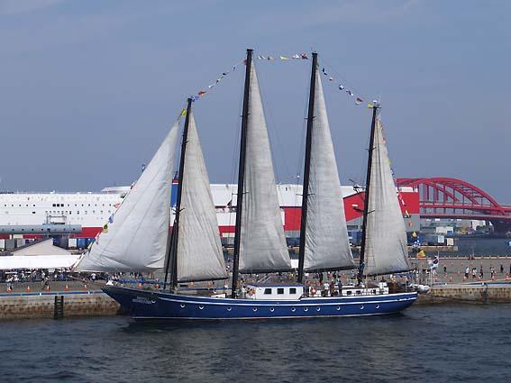 帆を広げた「コリアナ」
