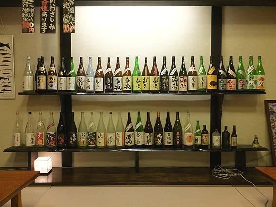 日本酒がずらり。