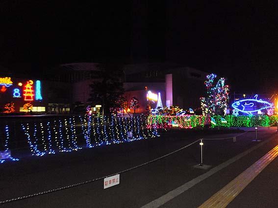 那智勝浦町体育文化会館のイルミネーション1