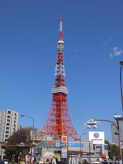 桜田通りからの東京タワー