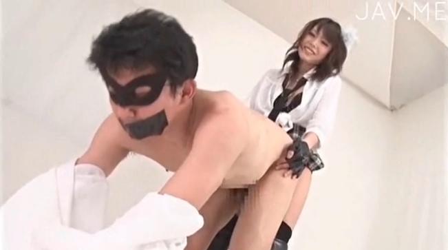 有村千佳 ペニバン M男 制服