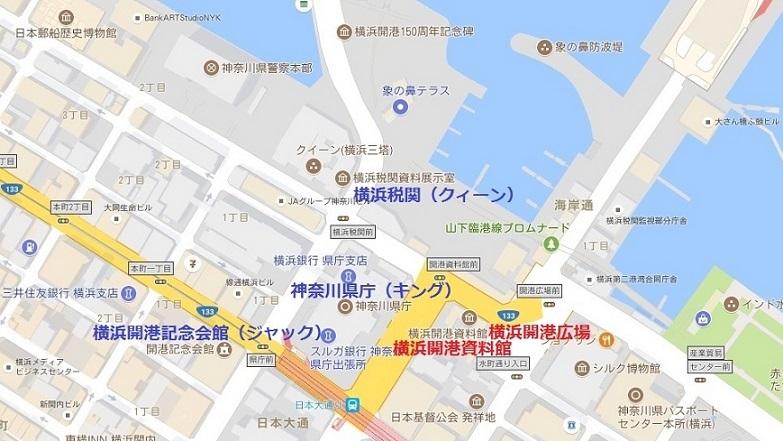 横浜三塔、開港広場