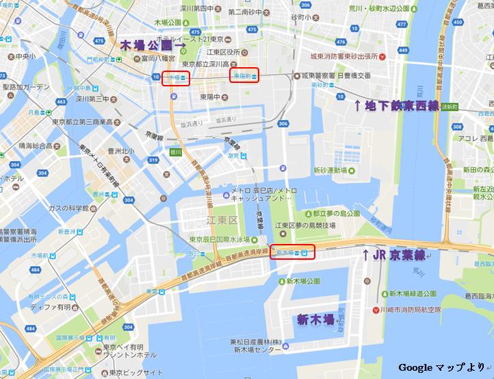 東京都江東区地図