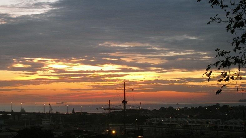 マラッカ海峡夕日