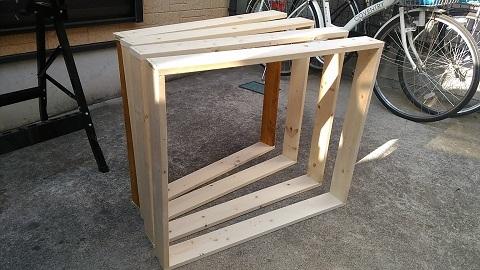 キッチン棚組み立て 2