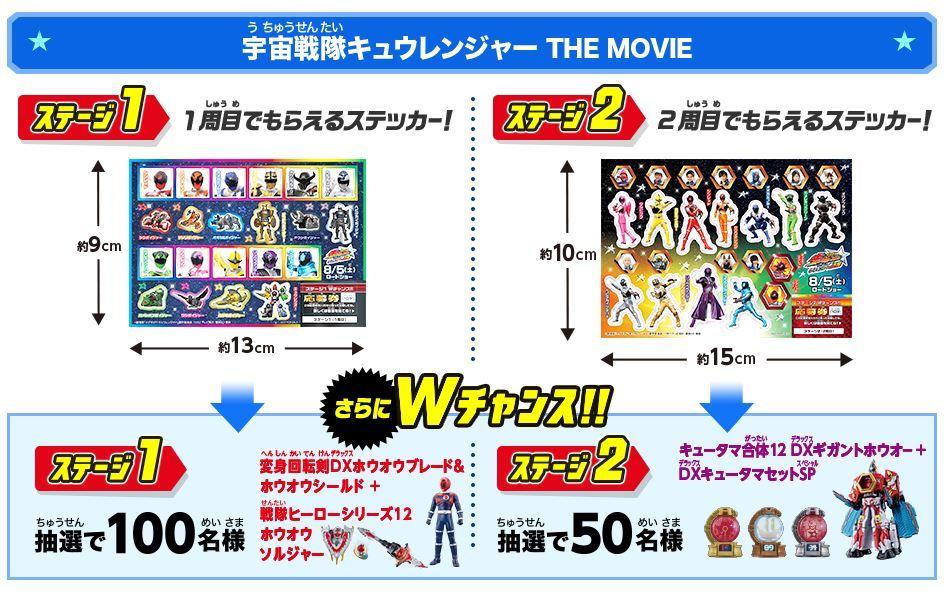 キュウレンジャーとプリキュア ローソン夏休みキャンペーン スタンプラリー2