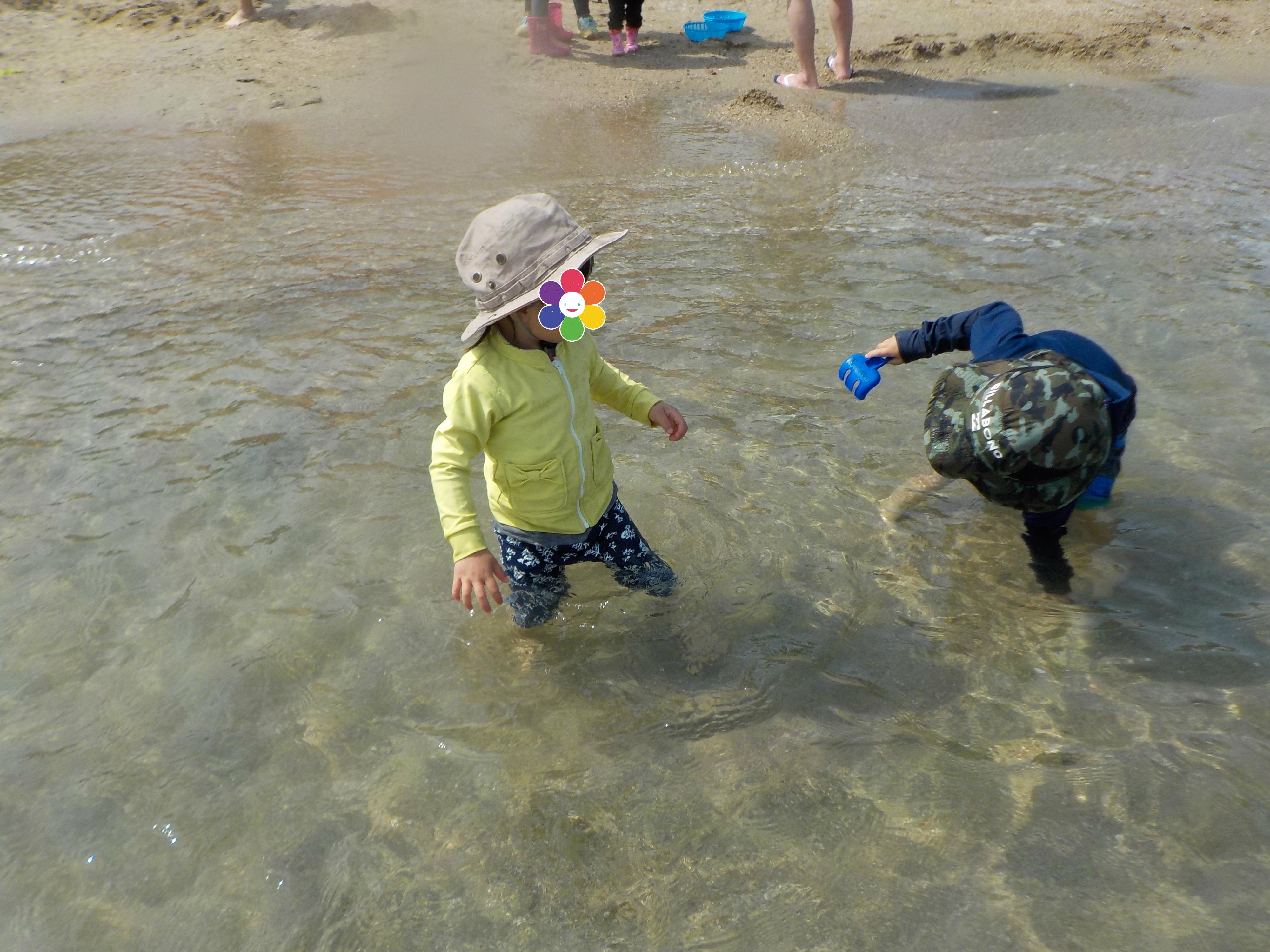 潮干狩りでときめく in ときめきビーチ