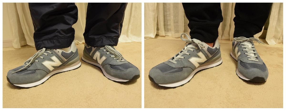 ニューバランスのスニーカーの靴紐の結び方11