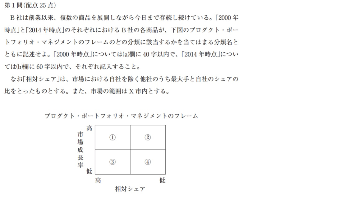 H26_事例Ⅱ_第1問