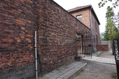 アウシュビッツ (19)断種実験ブロック・死の壁入口