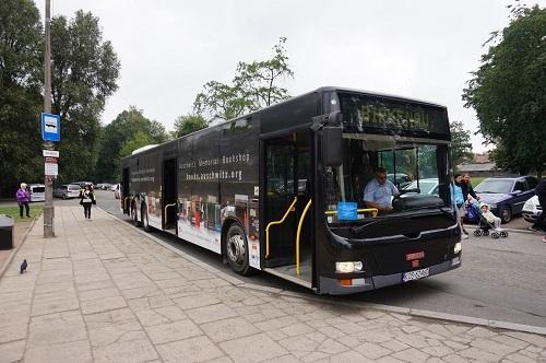 アウシュビッツ (34)ビルケナウへの無料バス
