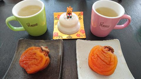 鏡餅とあんぽ柿