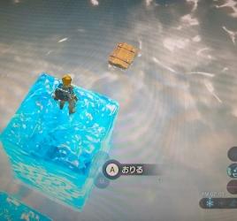 水に浮く宝箱 ゼルダの伝説ブレスオブザワイルド