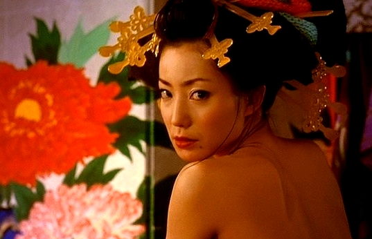 菅野美穂(女優濡れ場)映画「さくらん」でのねっとりKISSシーンからのきじょう位SEX映像