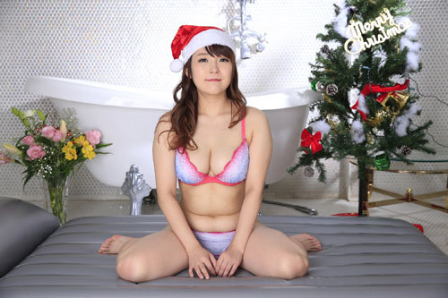 愛乃まほろのおっぱいサンタソープ嬢39