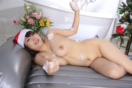 愛乃まほろのおっぱいサンタソープ嬢61