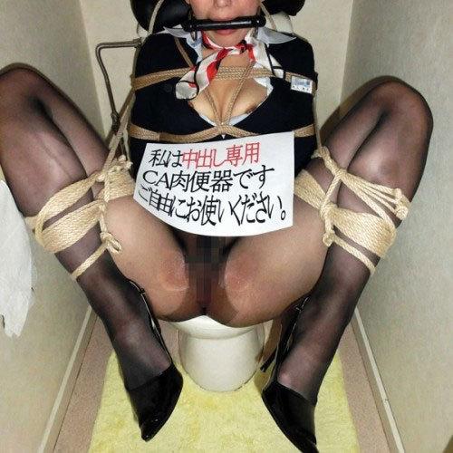 トイレでセックス 性排泄するだけの肉便器ドマゾ女