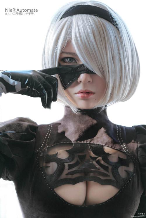 """『NieR:Automata(ニーア オートマタ)』""""2B""""コスプレ再現度が驚愕 [谷間&パンチラ]"""