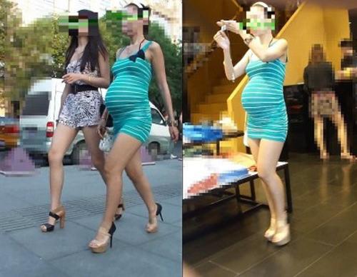 街中で妊婦の横乳を激撮!!!